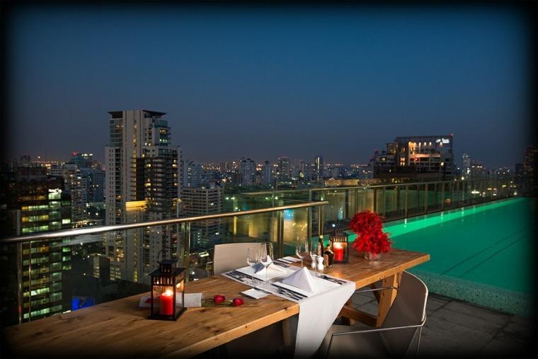 terrazas decoradas iluminadas diseno decoracion romantica ideas