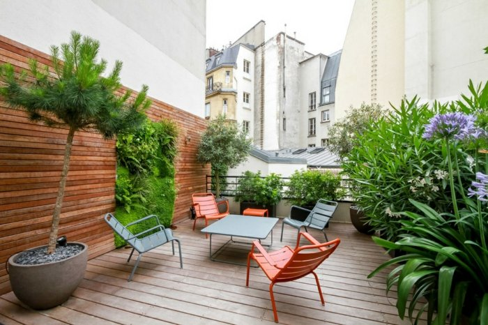 terrazas elementos frescos sillones colores