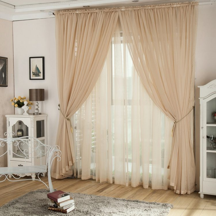 Organza net curtains embroidery tulle curtains for living - Tipos de cortina ...