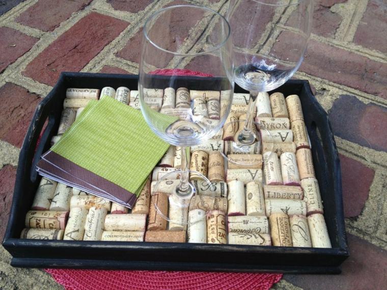 trabajos manuales ideas de bandejas de madera y corcho