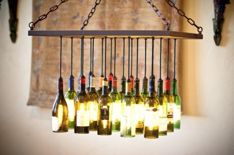 trabajos manuales proyectos DIY botellas vino ideas