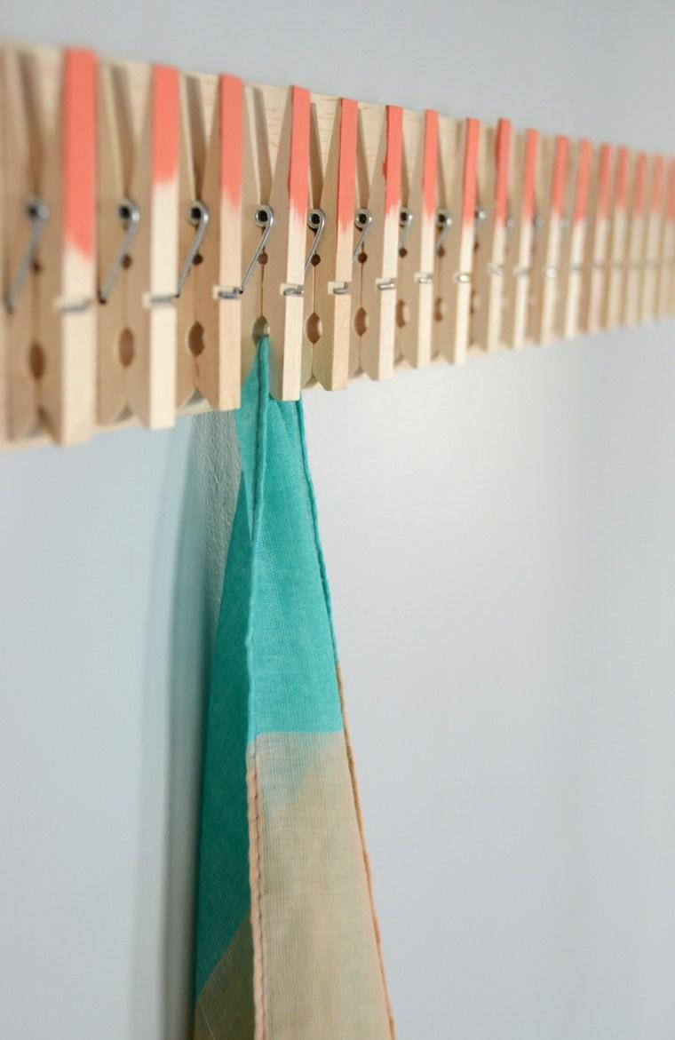 trabajos manuales proyectos DIY pinzas colgar ropa ideas