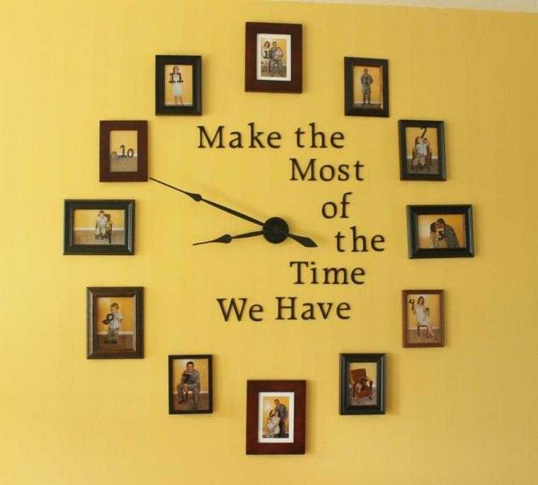 trabajos manuales proyectos DIY reloj opciones originales ideas