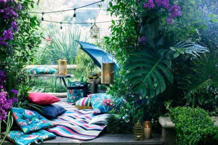 verano tendencias colorido jardines rosa