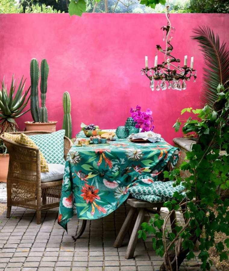 verano tendencias efectos conceptos muebles plantas