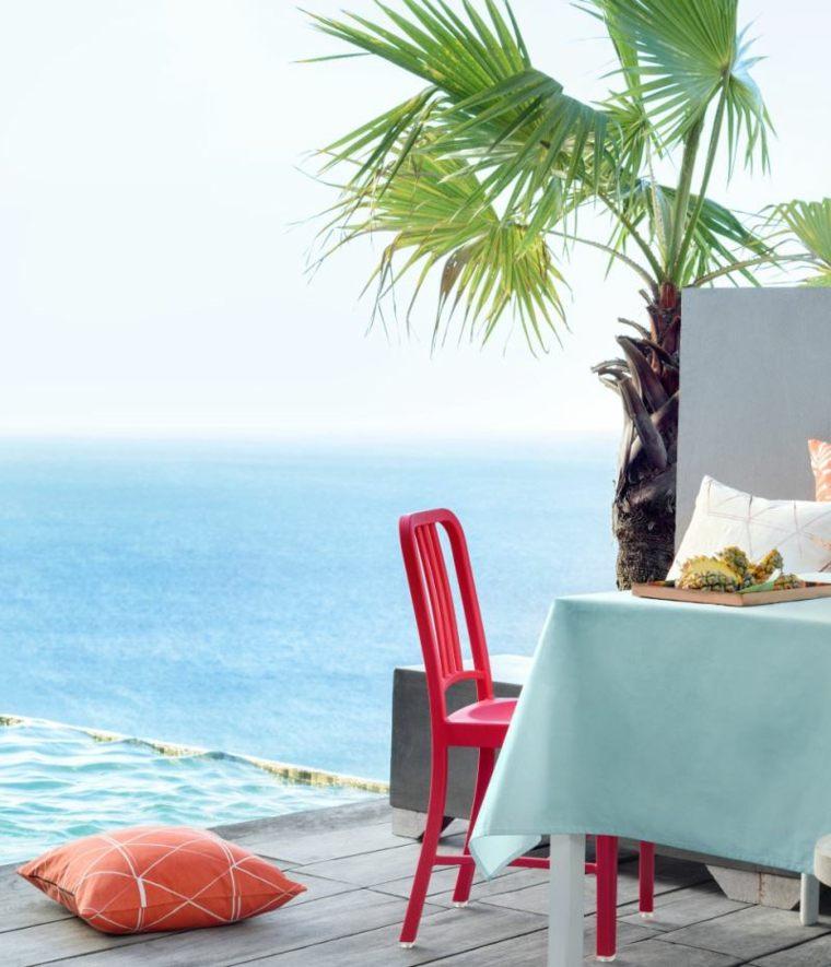 verano tendencias efectos muebles exteriores naranja