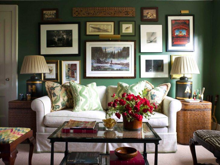 verdes efectos situaciones muebles flores