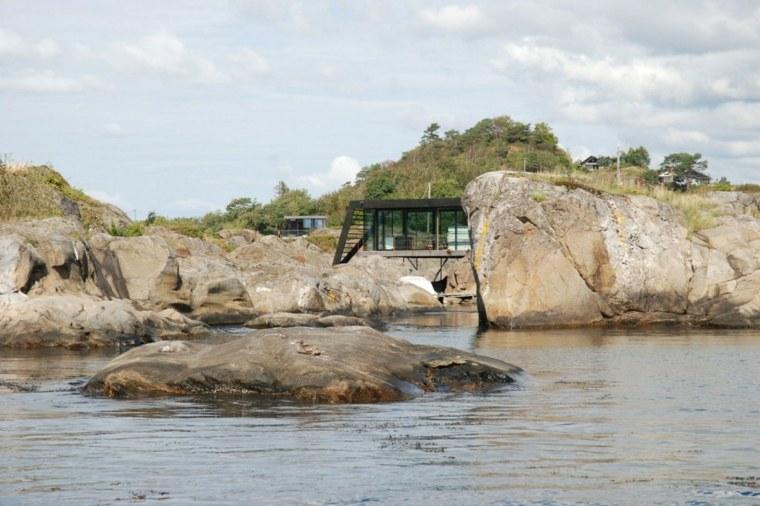 vistas exterior casa agua moderna