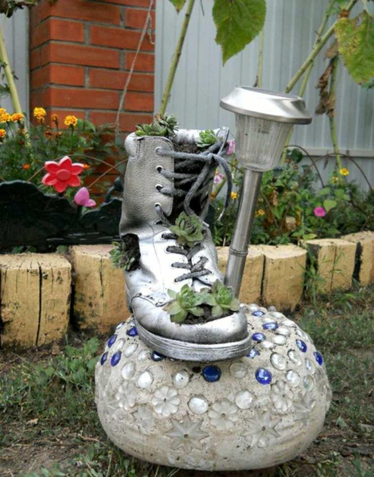 zapato viejo deco adorno jardin