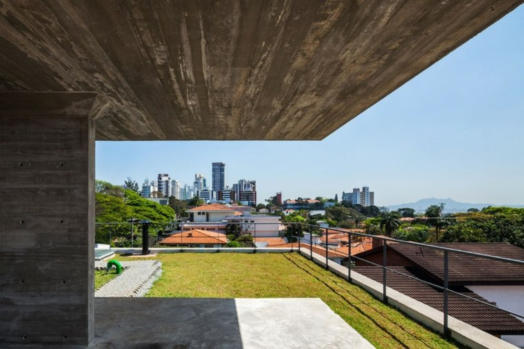 Brasil Arquitetura diseno casa terraza suelo cesped ideas
