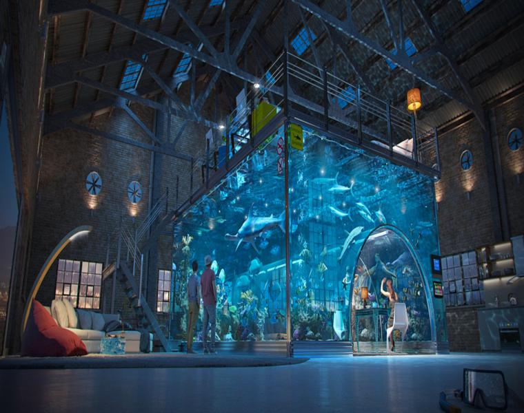 CSandzerg interior loft acuario impresionante