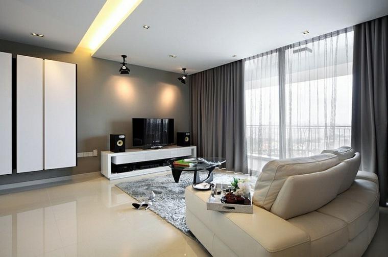 Cortinas modernas para salon 24 dise os originales for Cortinas salon clasico