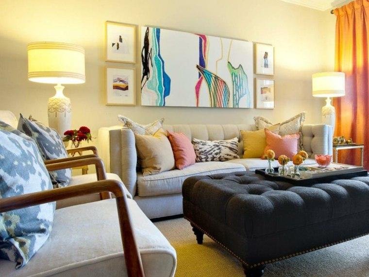 Decoracion de interiores salones modernos colores
