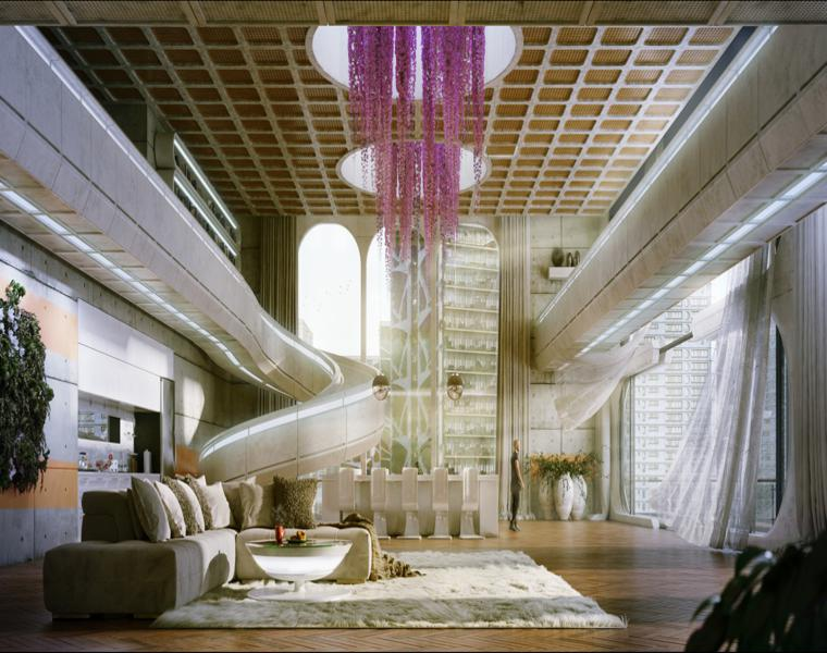 Michael Johnson escaleras futuristas
