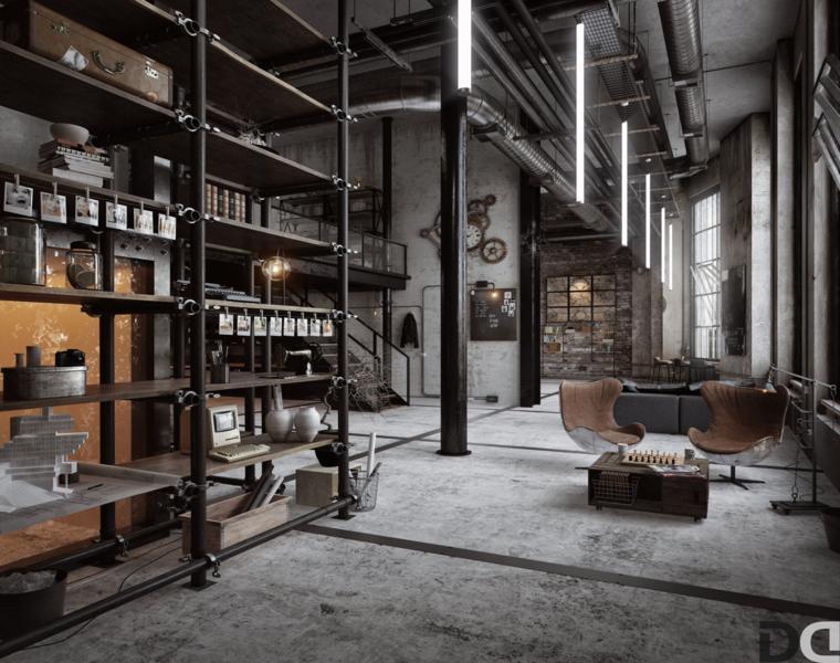 MxLancer piso loft estilo industrial