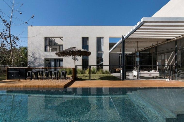 Neuman Hayner Architects diseno casa moderna pergola sombrilla ideas