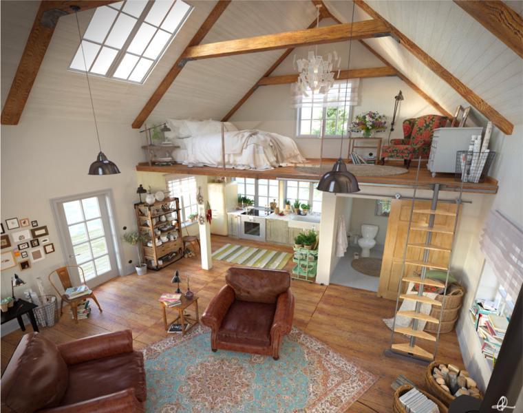 Lofts de dise o recorre los 42 interiores m s for Loft rustico