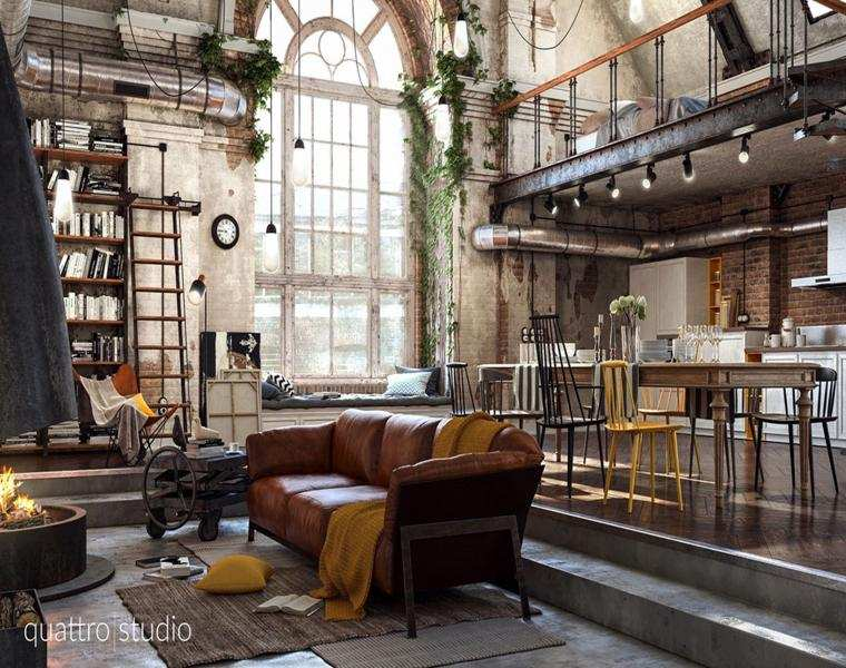 Lofts de dise o recorre los 42 interiores m s for Muebles industrial loft