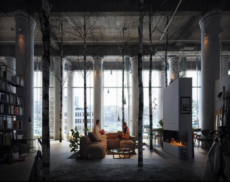 Tamas Medve interior loft moderno