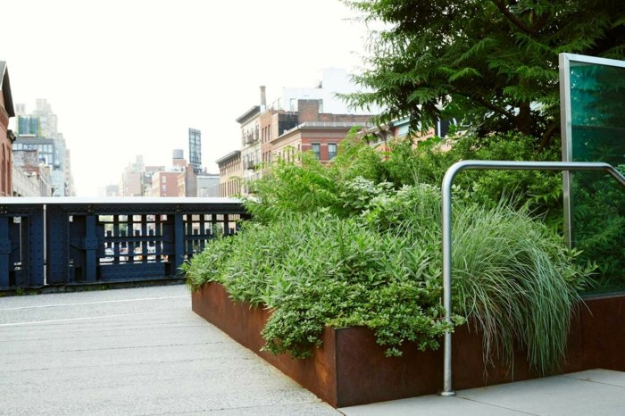 Acero corten decoracion para exteriores en 42 ideas geniales for Jardineras acero corten