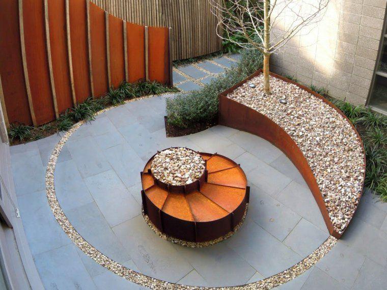 Acero corten dise os y decoraciones en el jard n for Decoracion jardin macetas