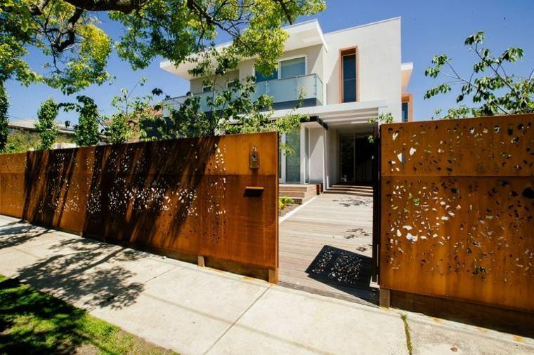 Acero puro vallas y paneles de corten muy atractivos for Decoracion vallas jardin