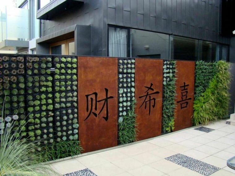 acero puro corten jardin paneles letras chinas ideas