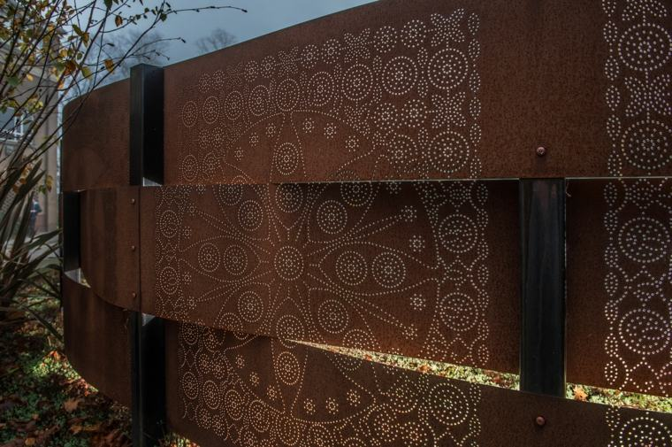 acero puro corten jardin vallas paneles decoracion acabados ideas