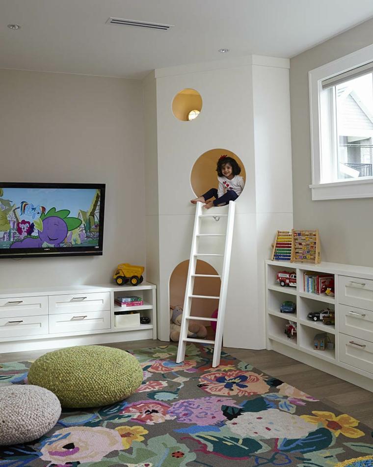 habitaciones infantiles maderas exteriores blanco
