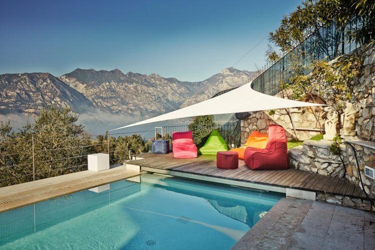 ambietes frescos coloridos imagenes piscina