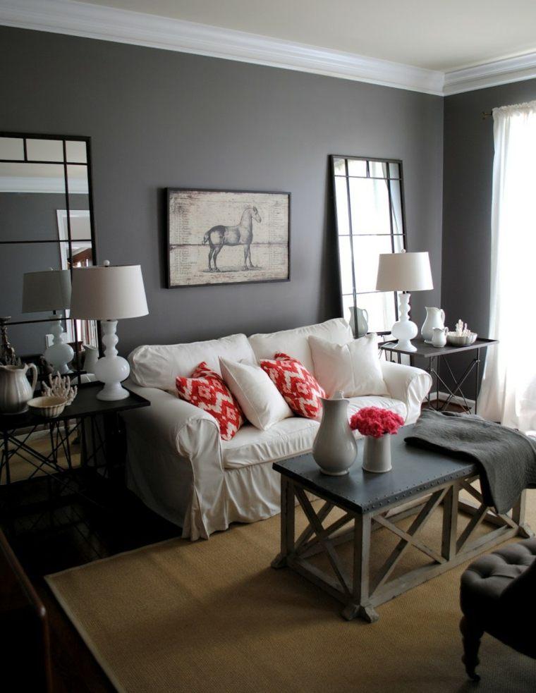 apartamento pequeno ciudad salon gris ideas