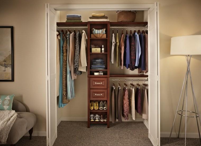armario vestidor lujoso cuarto vestidor