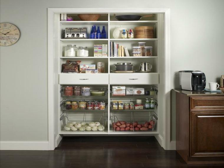 Trucos e ideas geniales para ahorrar espacio en la cocina - Mueble almacenaje cocina ...