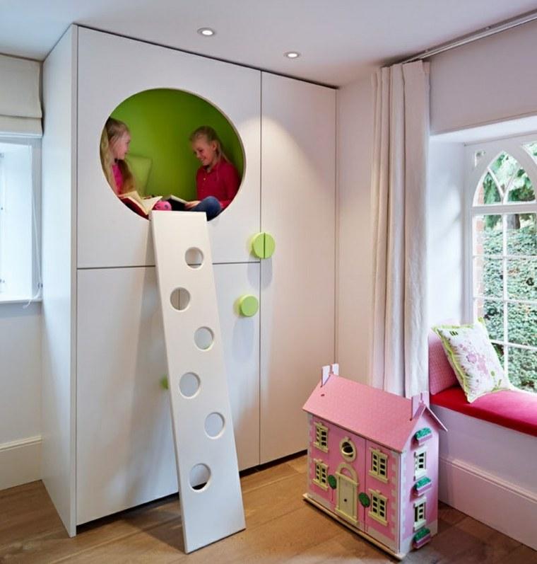 armarios blanco elementos muebles circulares