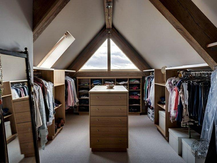 armarios roperos atico diseno vestidor pequeno ideas