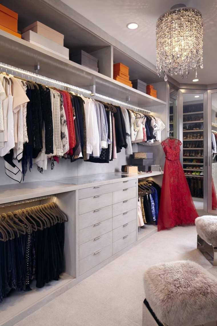 armarios roperos diseno lujoso estantes cajones ideas