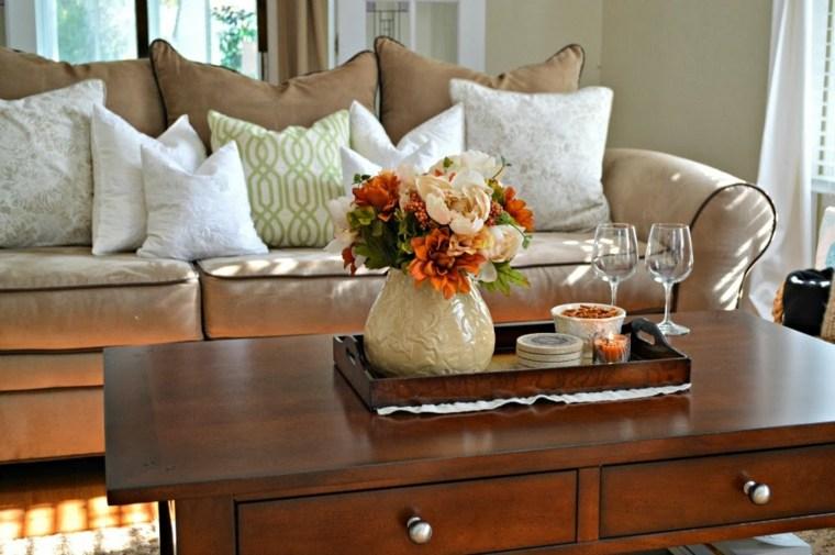 Mesas de centro decoracion con detalles creativos - Bandejas decoracion salon ...