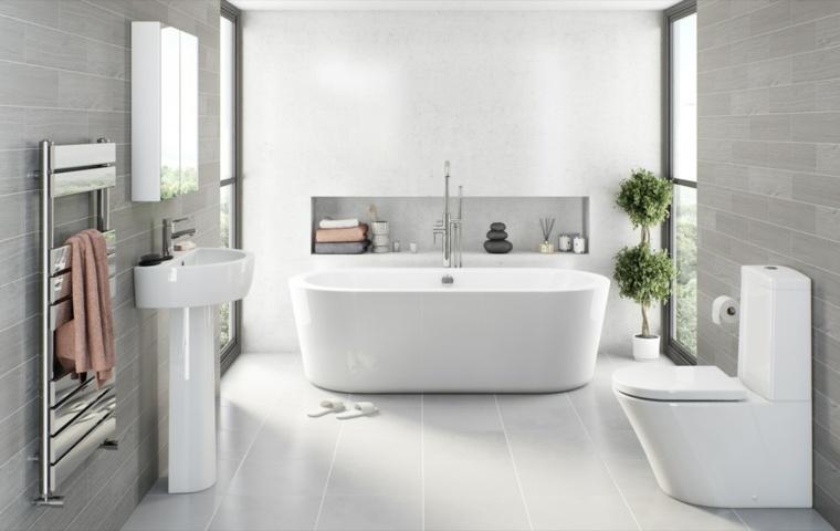 Ensuite Bathroom Ideas Grey : Ba?era exenta en diversos modelos para elegir la adecuada