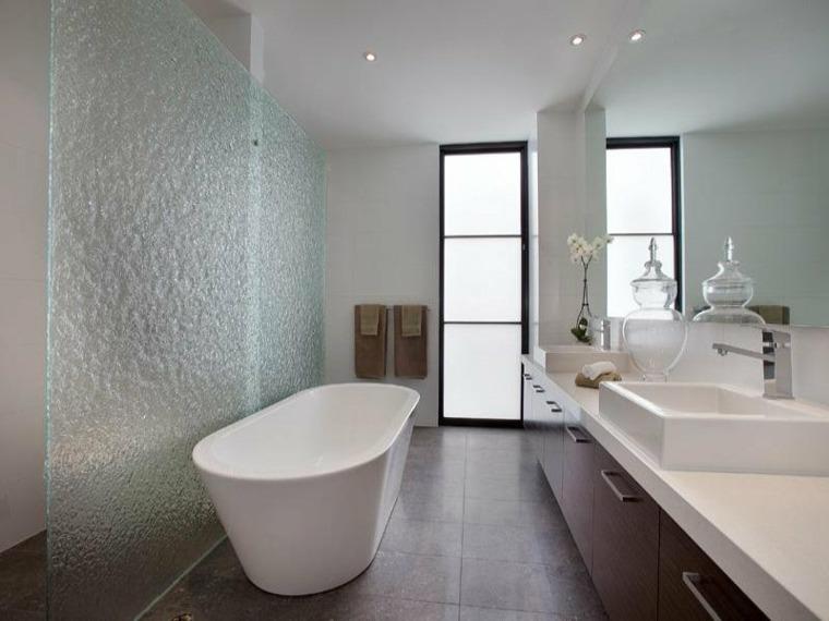 bañera elementos creativos ideas cristales