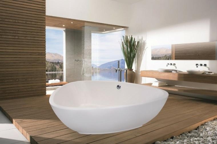 bañera rocas creativos soluciones plantas