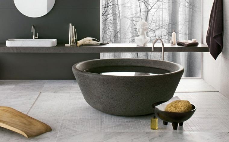 Bañeras diseño fresco y natural a partir de rocas sólidas