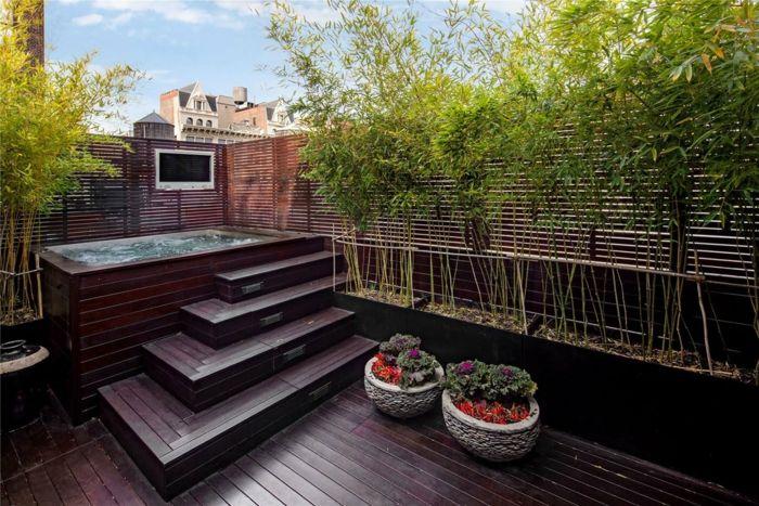 bambu colores espacios separadors intimidad plataforma