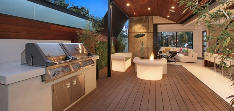 barbacoa de gas aire libre disenado Brandon Architects ideas