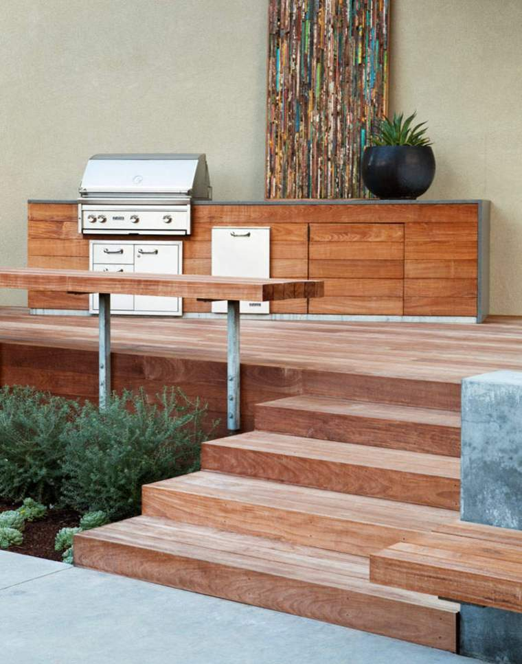 barbacoa de gas jardin diseno Arterra Landscape Architects ideas