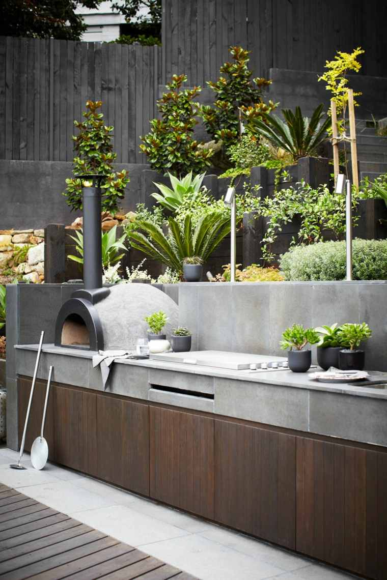 barbacoa de gas jardin diseno harrisonus landscaping ideas