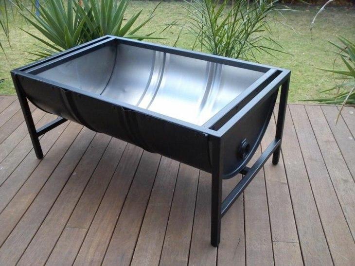 barril conceptos espacio metales cesped