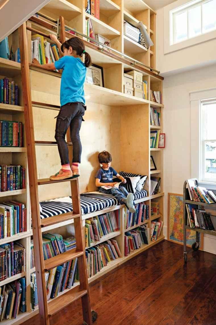biblioteca libreria diseno moderno habitacion ninos ideas