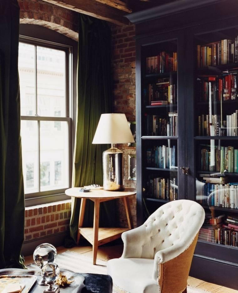 biblioteca libreria diseno moderno muebles rusticos ideas
