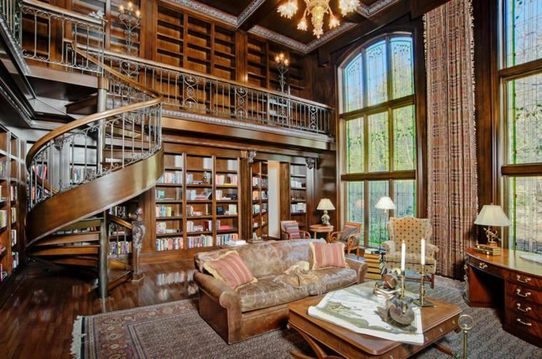 biblioteca libreria diseno moderno salon tradicional ideas