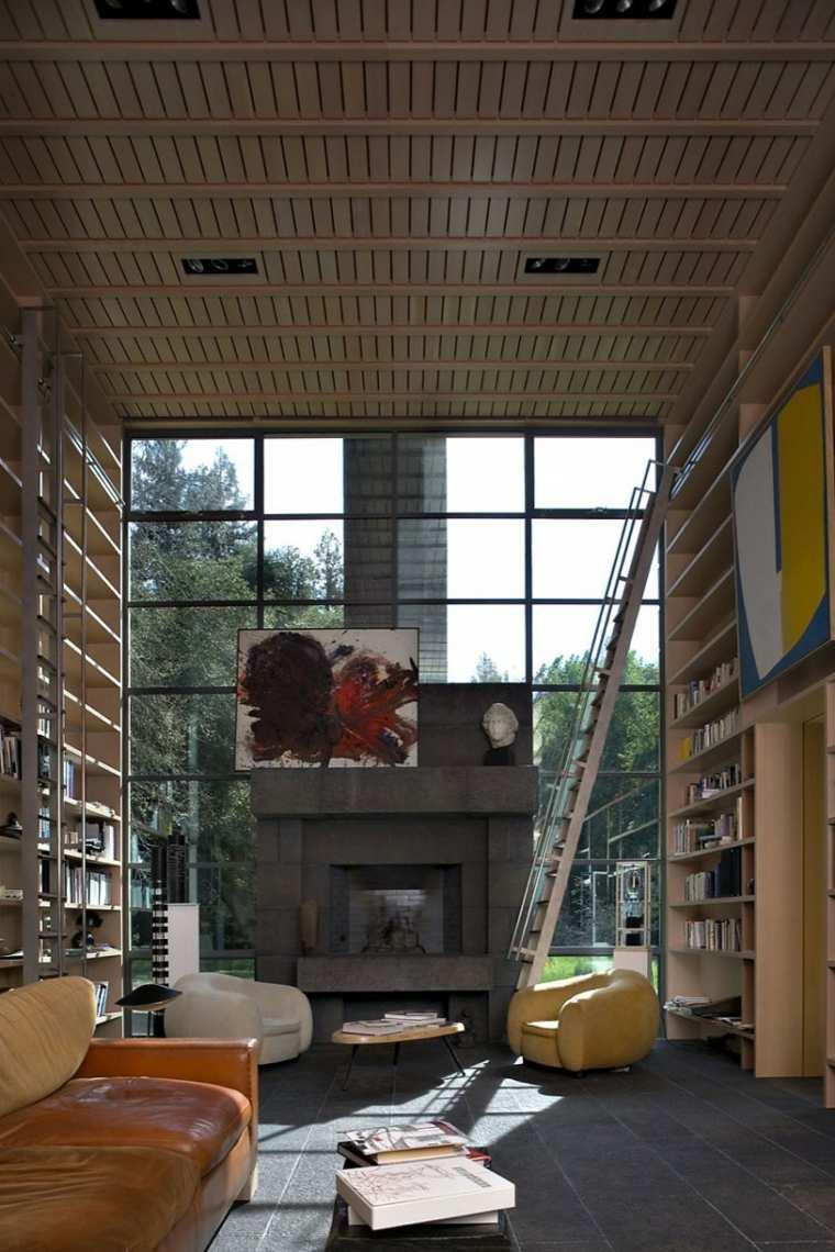 bibliotecas librerias disenos modernos Bohlin Cywinski Jackson ideas